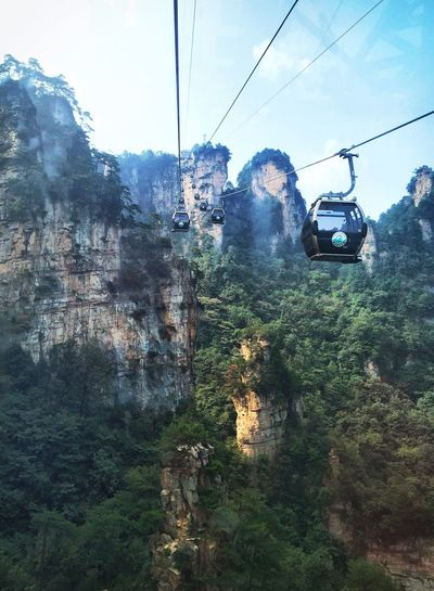 Zhangjiajie Geopark Mountain Avatar Mode Of Transport Travel Overhead Cable Car Nature_collection Long Distance  Travel Photography On The Mountain