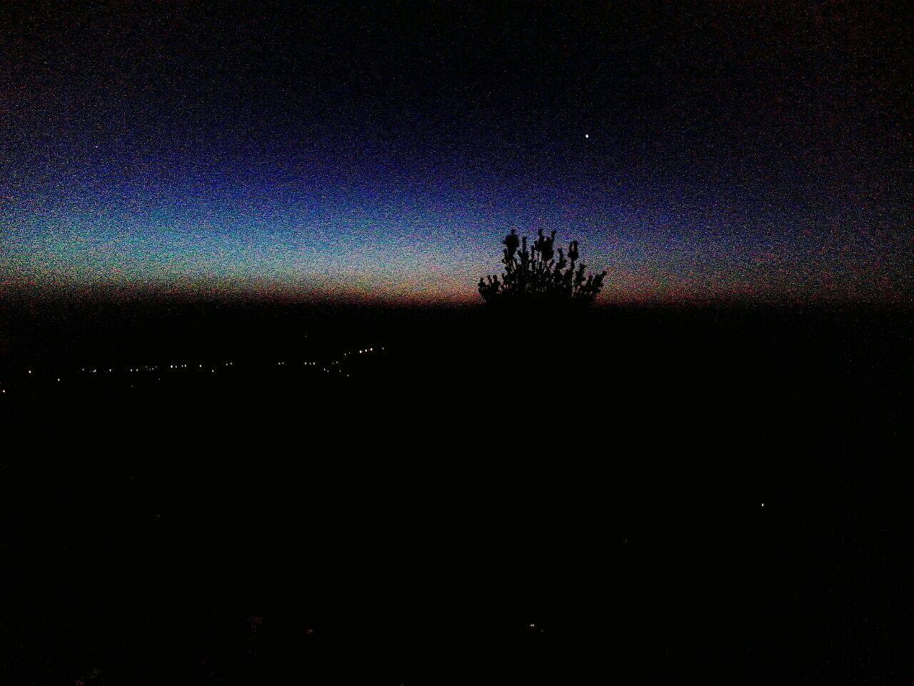 Early Morning Dusk Colours Dusky Sky Mountain Top