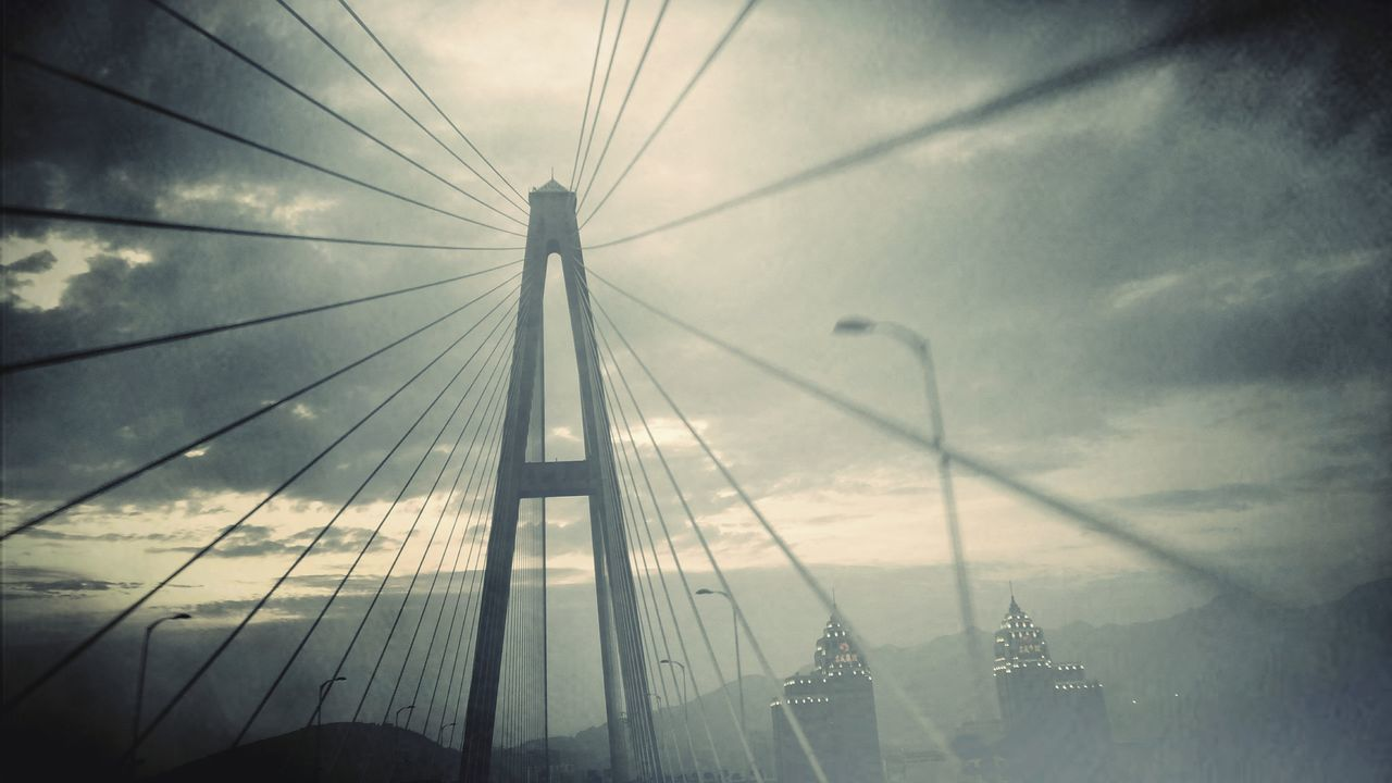 A dream No People Bridge - Man Made Structure Sky Fog Connection Cable Travel Destinations Cloud - Sky Outdoors Day Suspension Bridge City The Architect - 2017 EyeEm Awards Asus Zenfone Photography EyeEm EyeEmNewHere Vacations Eye4photography  Art Is Everywhere PhonePhotography Travel The Great Outdoors - 2017 EyeEm Awards The Street Photographer - 2017 EyeEm Awards Neighborhood Map Move BYOPaper!