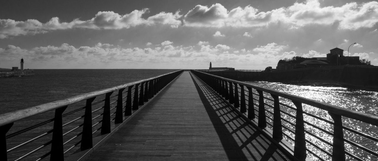 The Bridge Taking Photos Clouds And Sky Blackandwhite Photography France B/W Photography Traveling Holiday Bridge