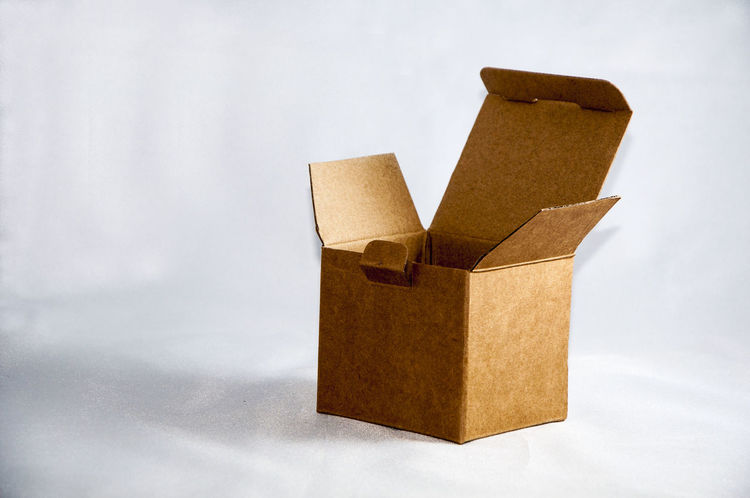 Arrangement Brown Box Cardboard Box Close-up Empty Boxes No People Nothing Here Open Box Still Life Studio Shot White