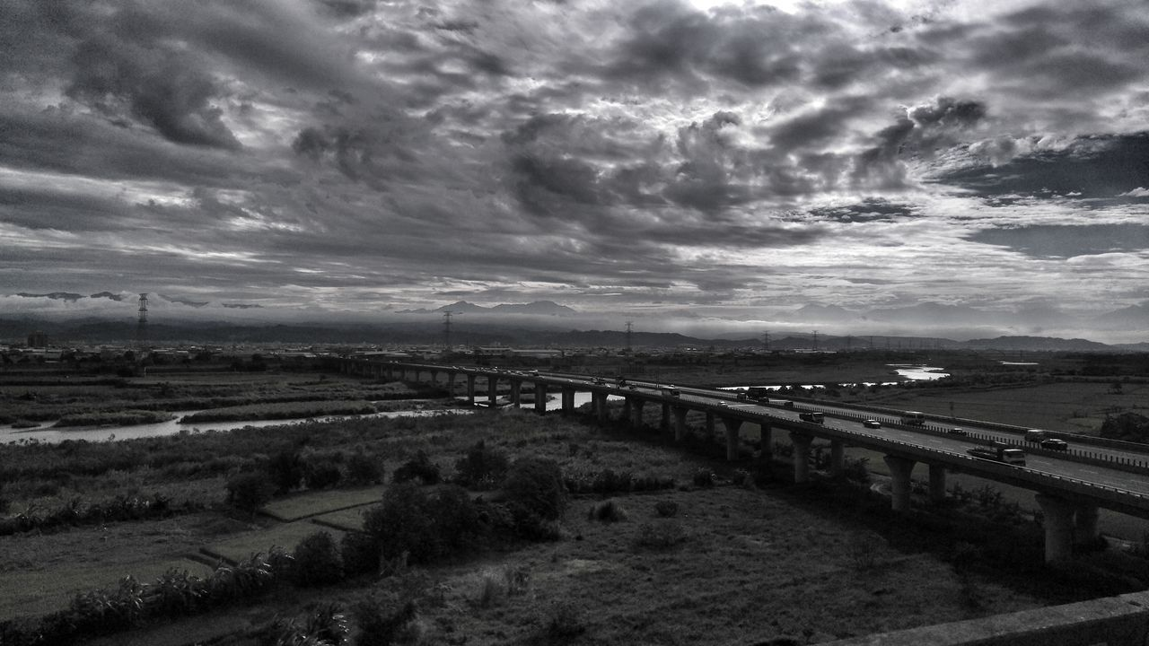 My Year My View Outdoors Cloud - Sky Nature Beauty In Nature Scenics Sky Landscape_photography Ontheroad On The Train Cloud And Sky Black And White