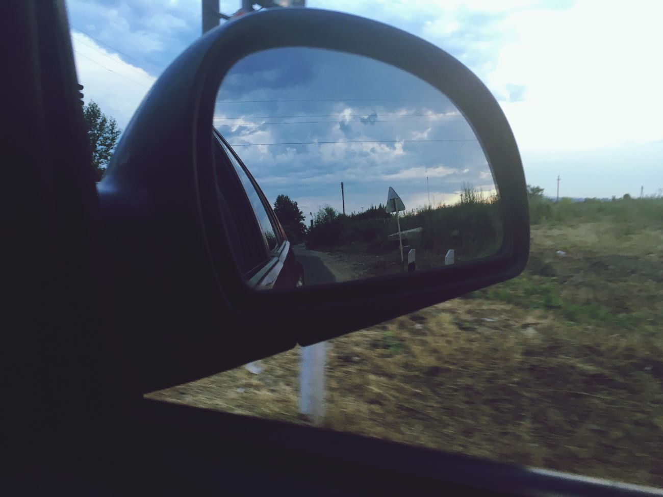 Car Transportation Land Vehicle Mode Of Transport Vehicle Interior Tree Side-view Mirror Reflection Sky Day Road No People Nature Steering Wheel Close-up Vehicle Mirror Outdoors