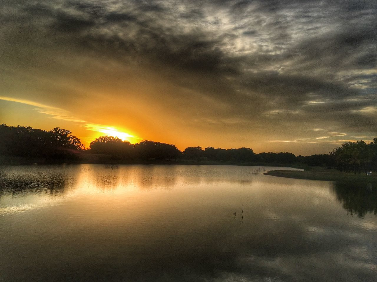 reflection, sunset, water, sky, nature, cloud - sky, tranquil scene, scenics, lake, beauty in nature, tranquility, no people, tree, outdoors, day