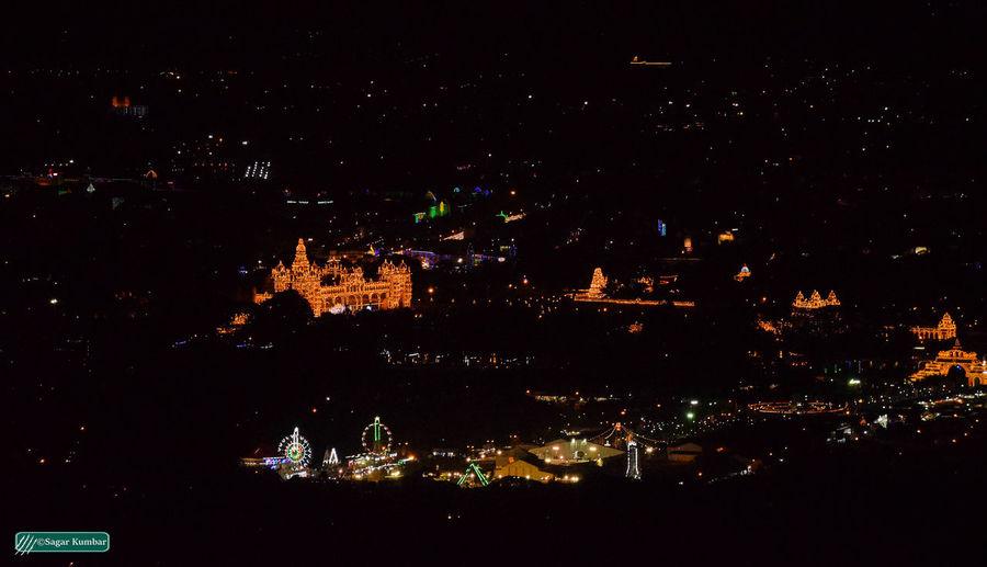 Mysore, India Sky No People Outdoors Travel Destinations Architecture City Illuminated