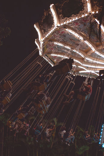 Enchanted Kingdom, Sta. Rosa Laguna Tristanpacatang Theme Park Silhouette Rides Night Lights Night Landscape Hipster Flying Ferris Wheel Family Carnival