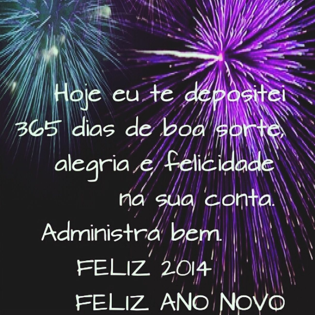 Feliz Ano Novo Happy New Years