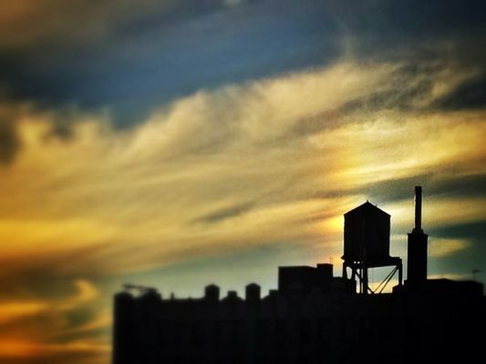 NYC Water Towers in Brooklyn by Ed Grant