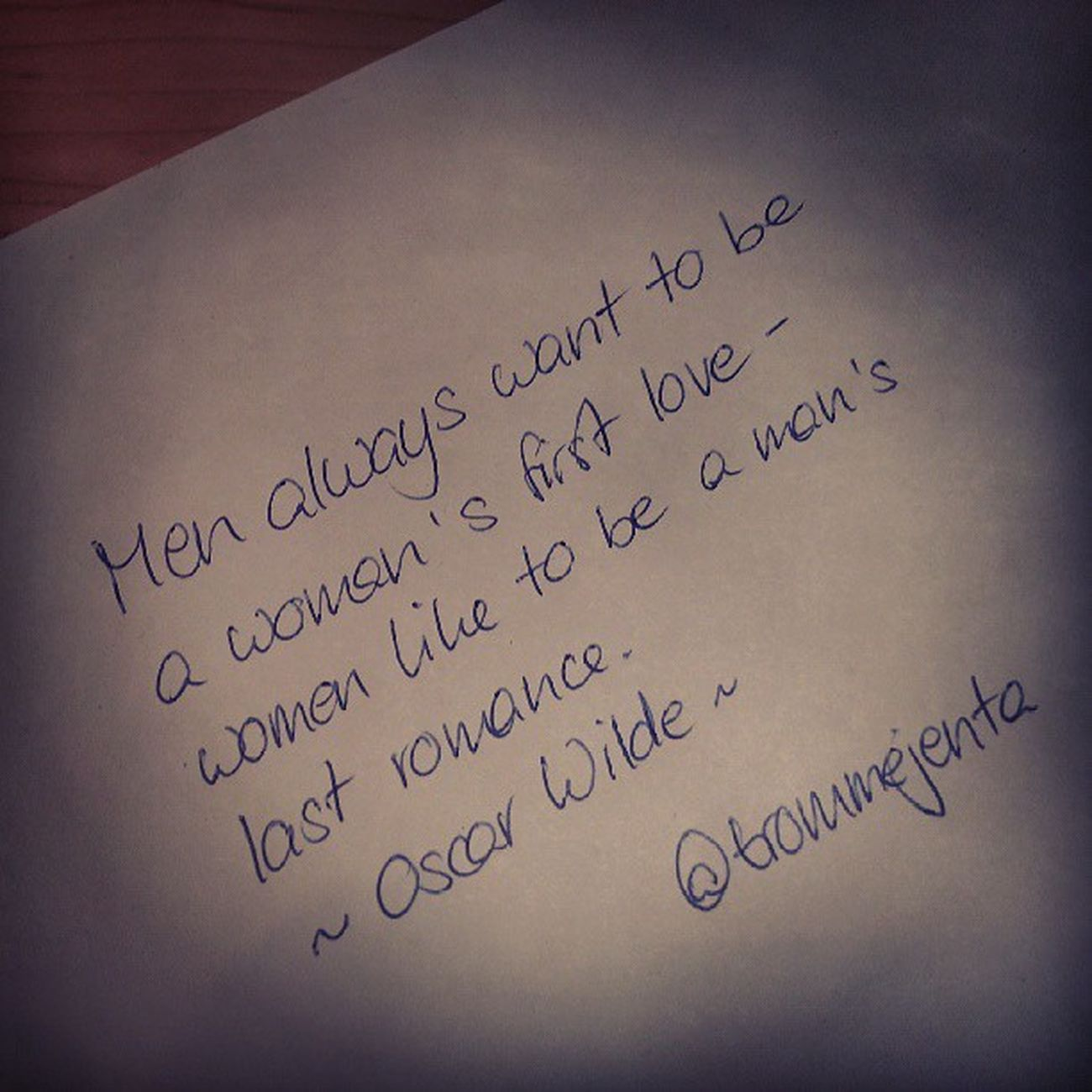 #handschrift #oscarwilde #quote #handwriting Quote Handwriting  Handschrift Oscarwilde