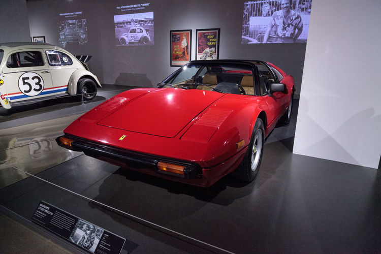 Los Angeles, CA, USA - March 4, 2017: Red 1982 Ferrari 308 GTSi driven by Tom Selleck in the television show Magnum P.I. at the Petersen Automotive Museum in Los Angeles, California, United States. Editorial only. 1982 308 Antique Car Car Classic Car Classic Cars Fast Car Ferrari Gtsi Indoors  Magnum P.I. No People Old Car Petersen Automotive Museum Sports Car Television Show Tom Selleck Vintage Car