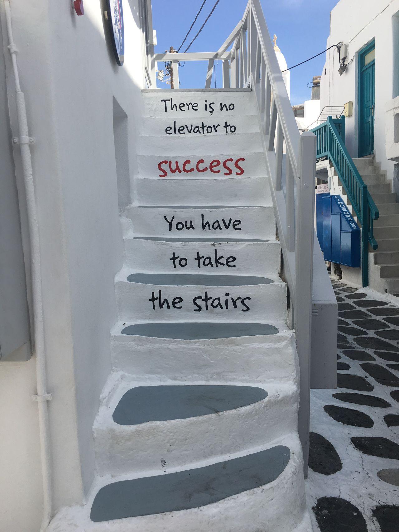 Mykonos Mykonostown Cyclades_islands Greece Stairs