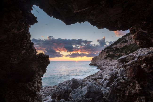 Cave in the Circeo National Park The KIOMI CollectionLandscape Landscape_Collection Sunset Sunset_collection The Great Outdoors - 2016 EyeEm Awards The Great Outdoors With Adobe Eye Em Best Shots Found On The Roll
