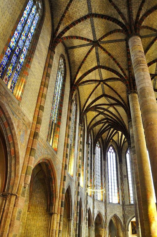 France Toulouse Couvent Des Jacobins Church Stained Glass No People Gothic
