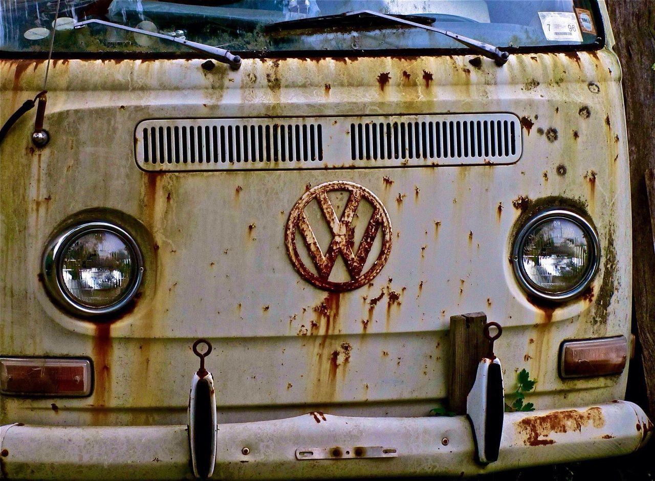 VW Bus Volkswagen Rusty Metal Rusty Autos No People