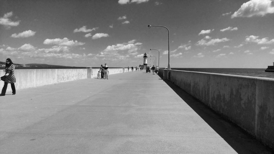 Pier Shore North Shore Minnesota Blackandwhite Black And White Photography Life Peoplephotography EyeEm Best Shots - People + Portrait America