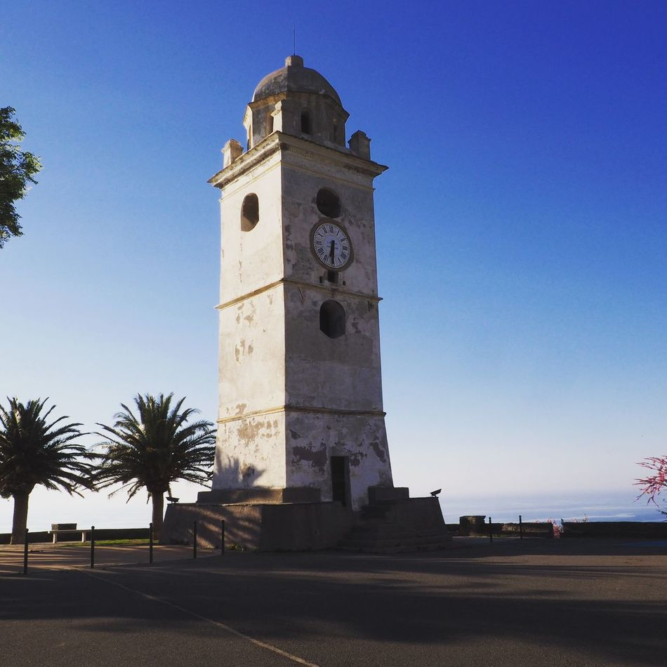 Canari Architecture Spirituality Tower Built Structure No People Bell Tower Clock Tower Blue Clear Sky Mediterranean  Corsica Cap Corse Corse Sunset Horizon Over Water Tranquility Holiday