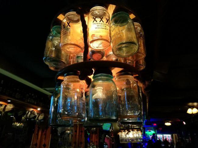 Tennessee, bar Night Illuminated Illuminated Low Angle View Night