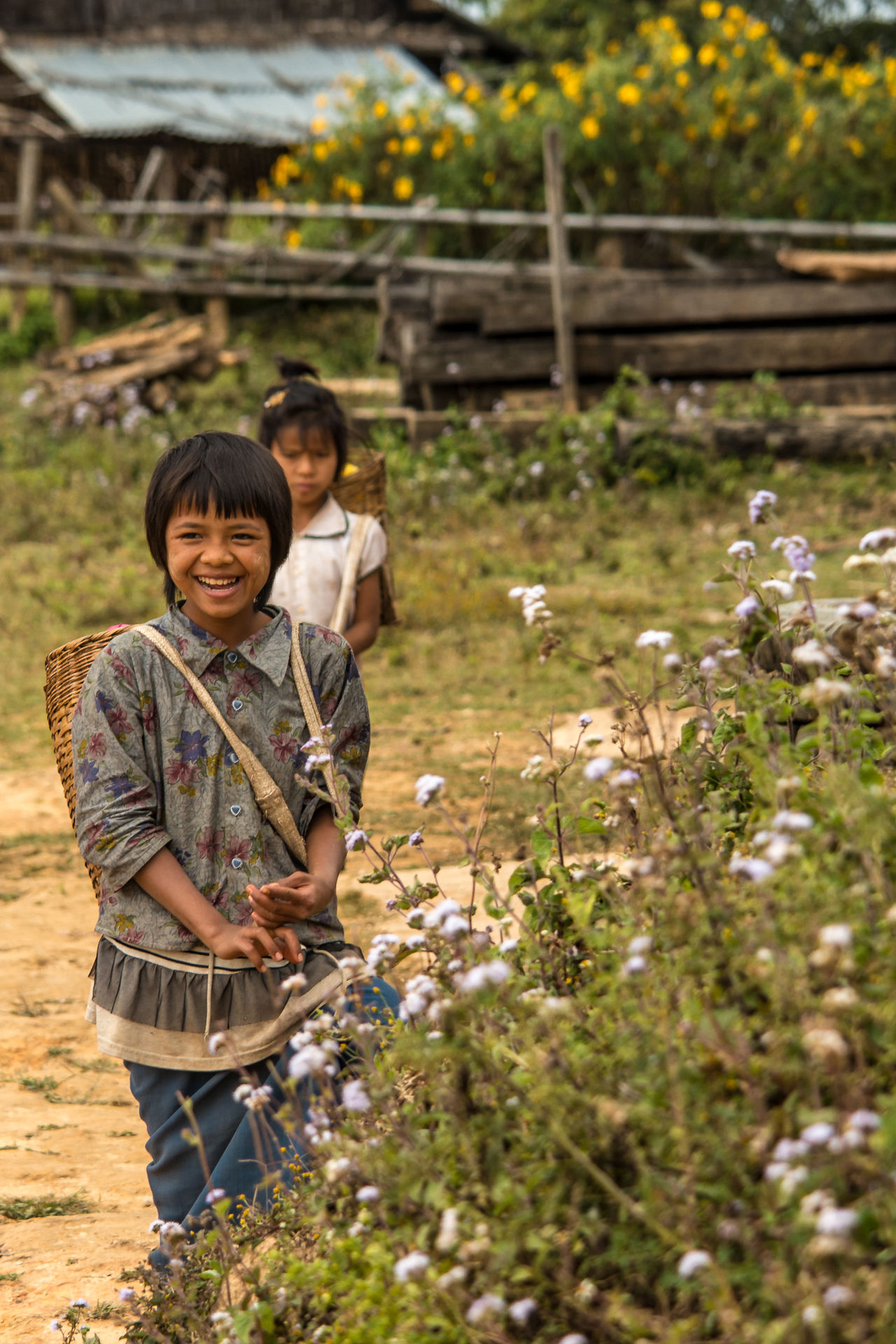 Burma Childhood Children Playing Hill People Innocence Lock Myanmar Person Plants Playing SE Asia Tribal