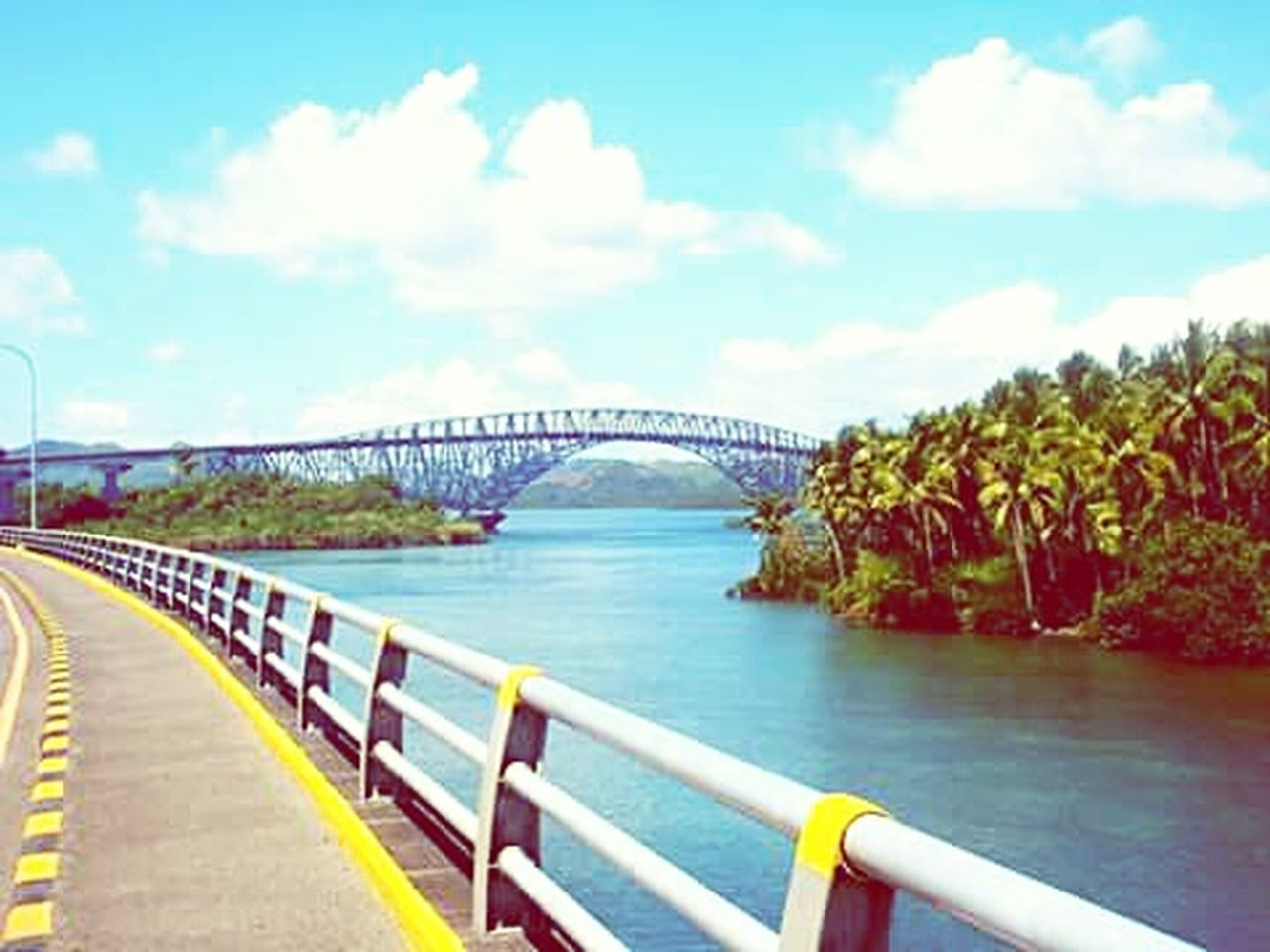 LongestBridge Sanjuanicobridge Samar And Leyte Islands Bluesky Bridge View Tacloban City Cobalt Blue By Motorola