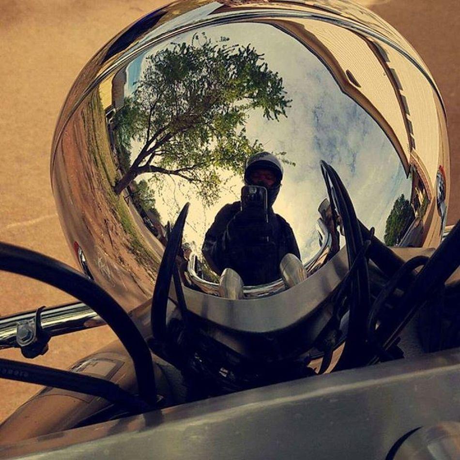 Reflection Motorcyle Motorbike