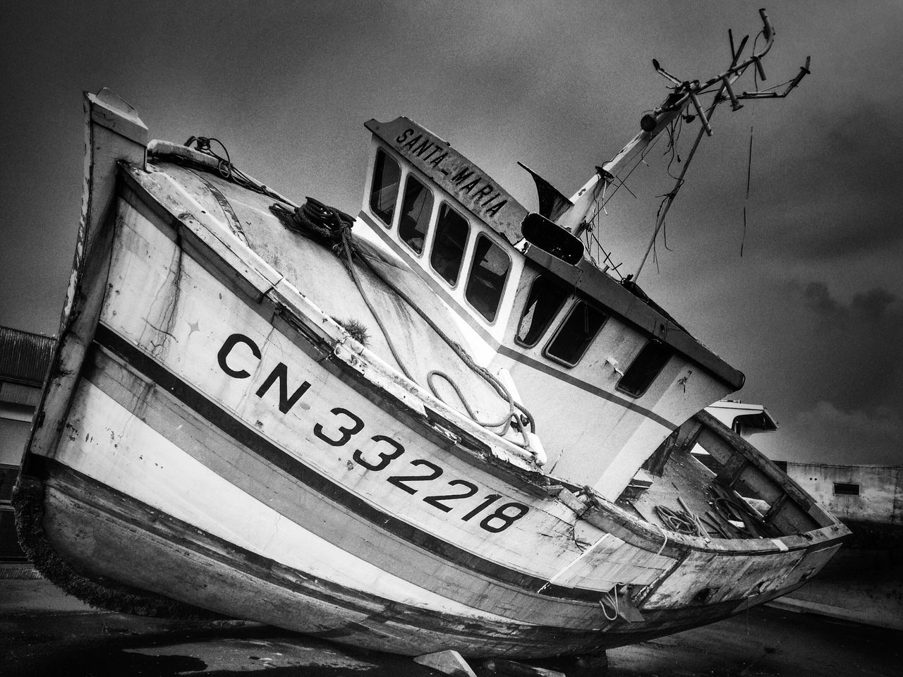 B&w Blackandwhite Boat Fishboat
