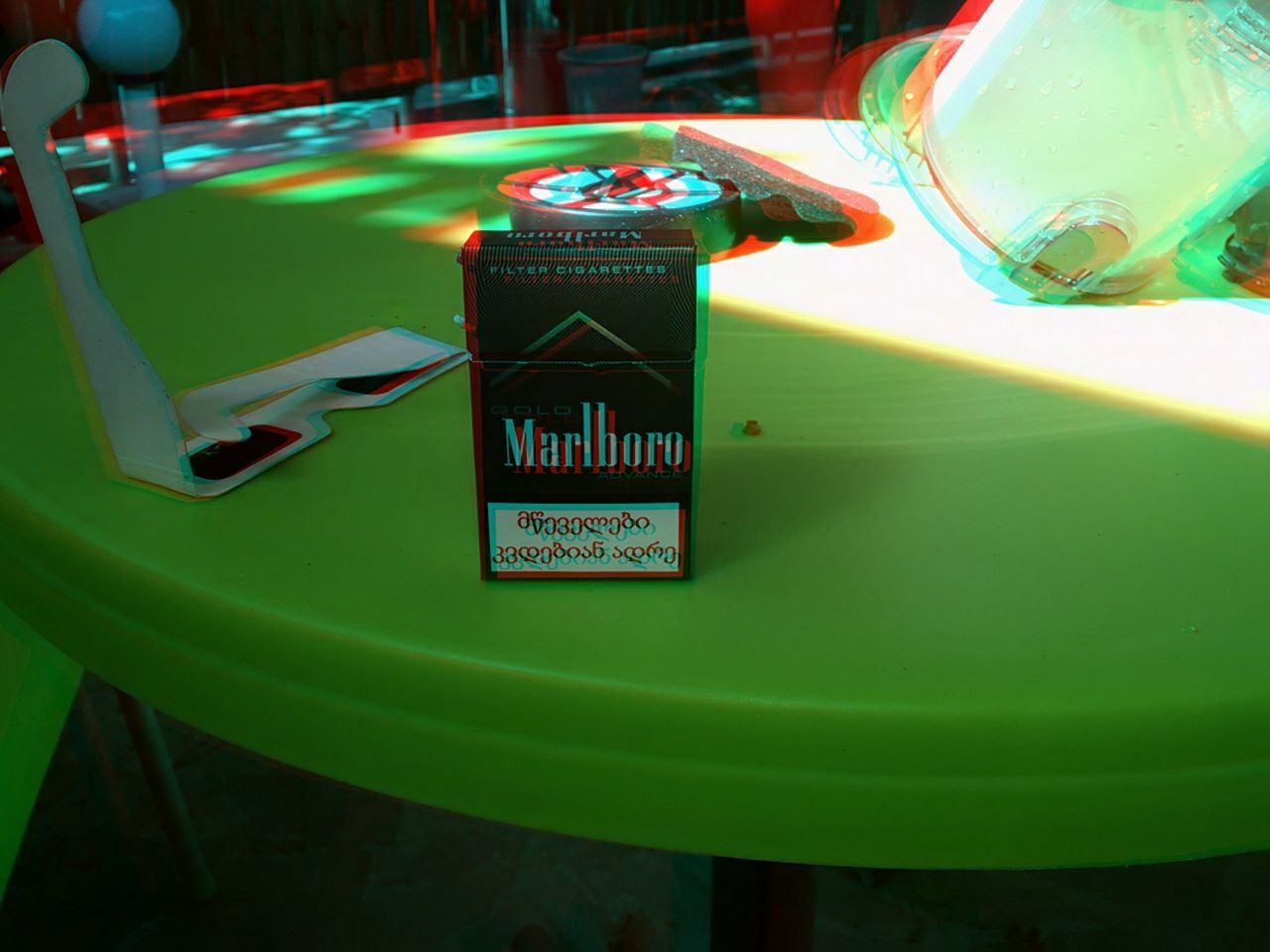 Green Color Text Close-up No People Indoors  Day Communication Reflection Tbilisi First Eyeem Photo Focus On Foreground Outdoors 3D 3D Photo 3D Effect 3dpicture 3D👓 Marlboro Marlboro 3d marlboro black