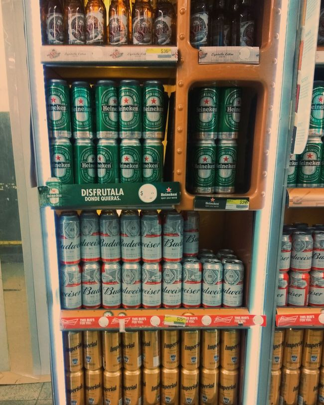 Large Group Of Objects Choice Close-up Beer Supermarket Cans Latas Supermercado Indoors