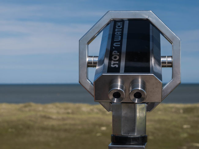Beauty In Nature Close-up Coin-operated Binoculars Day Focus On Foreground Hand-held Telescope Horizon Over Water Nature No People Outdoors Scenics Sea Sky Surveillance Technology Telescope Water