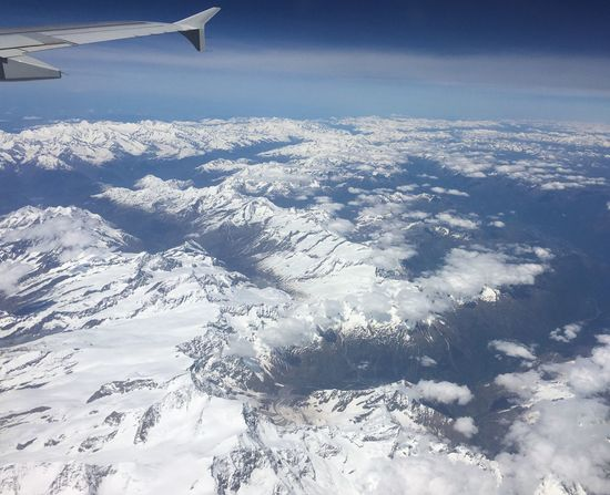 From The Plane Window Mountains View Sky Clouds And Sky Snow Mountains Mountain Landscape Nature Tranquility Travel