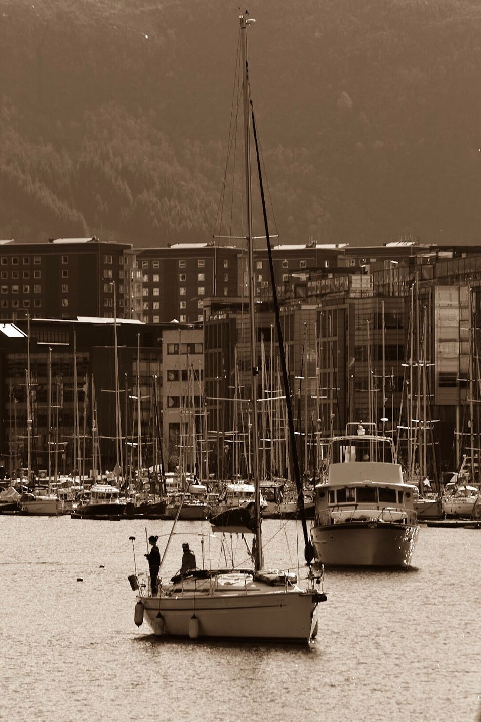 Transportation Architecture Water Built Structure Nautical Vessel Waterfront River Mode Of Transport Building Exterior Outdoors Day Sky Nature No People Awsome Stunning_shots Low Angle View Bergen Architecture The Way Forward The One NumberOne
