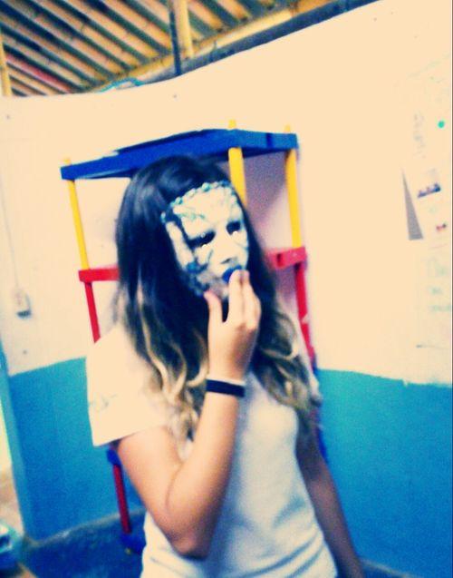 Taking Photos Hanging Out Mask