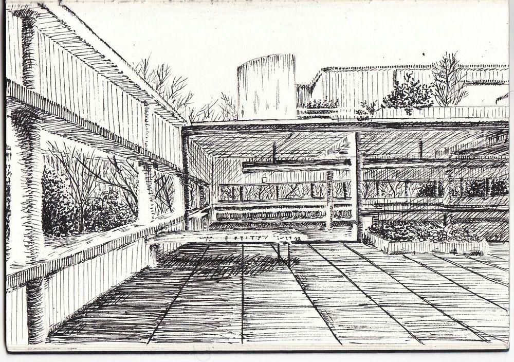Villa Savoye Lecorbusier Architecture Chinese Ink Sketch Archisketcher