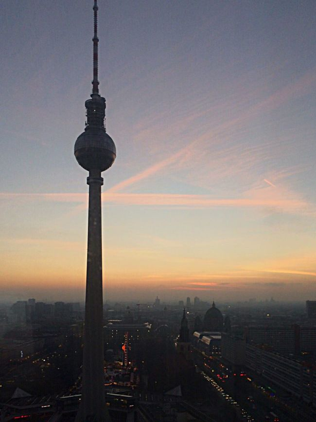 City Architecture Tower Built Structure Tall - High Building Exterior Sky Sunset Cityscape Television Tower Travel Destinations No People Indoors  Day Sky And Clouds Cloud - Sky Silhouette Life Lifestyles Urban Communication Skyscraper Night Love Berlin