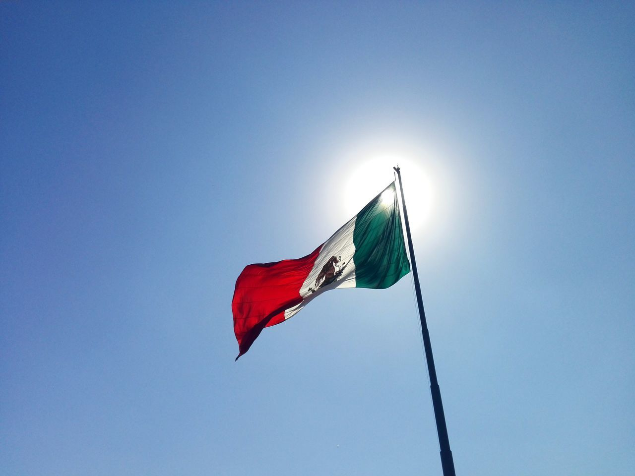 Beautiful stock photos of mexican flag,  Back Lit,  Blue Sky,  Clear Sky,  Copy Space