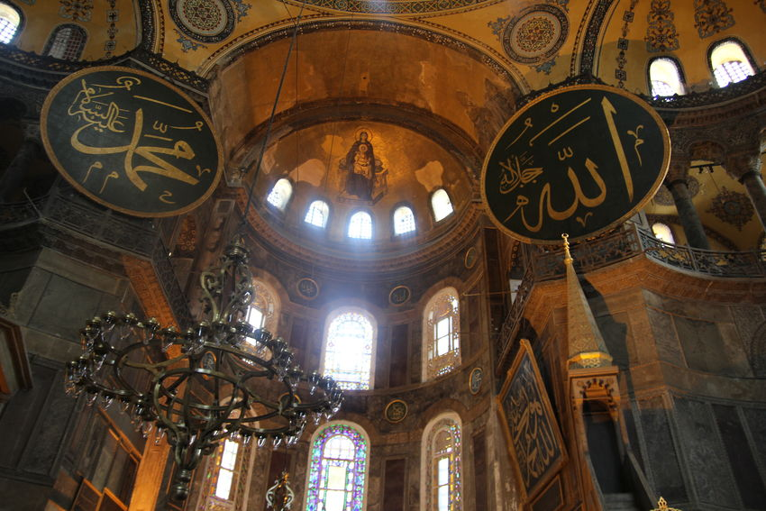 Allah ❤❤ Architecture Calligraphy Hagia Sophia Istanbul Jesus Mary Mihrab MUHAMMAD Place Of Worship Religion Spirituality Travel Destinations