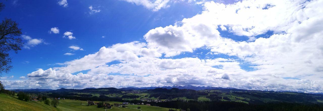 Mountain Nature Outdoors Landscape Sky Blue Grass Cloud - Sky