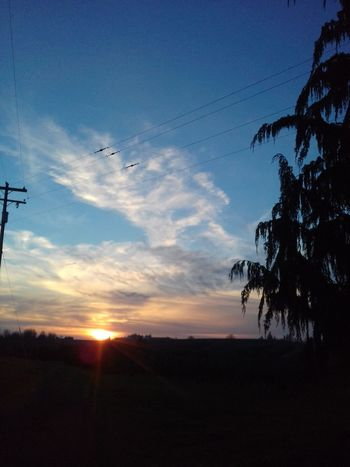 Sunset Tree Sky Outdoors No People Beauty In Nature Cloud - Sky Rural Scene Cold Temperature