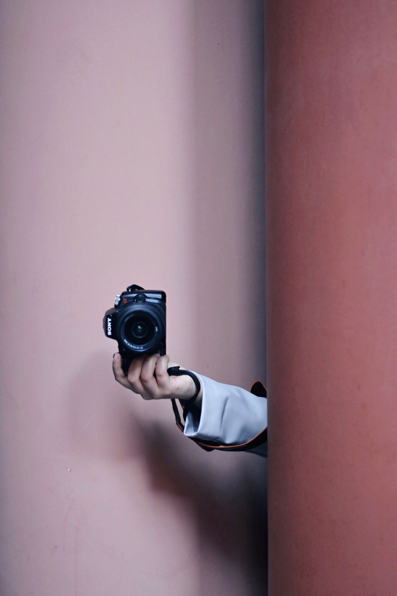Say cheese Millennial Pink Pink Color Pink Sony Sonyalpha Camera Hand Handsinframe Minimalism Minimal Minimalobsession Architecture