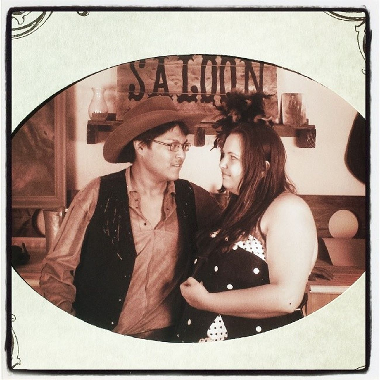 Saloon Cancan Couplesweekend Roadtrip cancan pistol bbgun shotgun feathers cowboy cowboys cowboyhat bar saloongirls admirer navajo native nativeamerican cheyenne apache sioux oldwest wildwest whitegirl