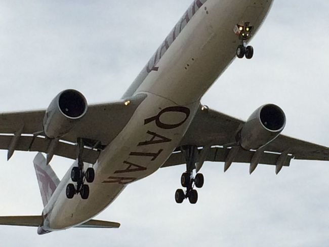 Aircraft Airline Airport Day Enjoyment Fun Journey Low Angle View Man Made Object No People Outdoors Qatar Sky