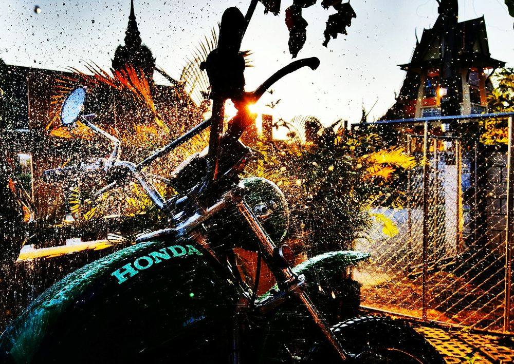 Hondasl125 Carwash Thailand SumsungS6edge Enduro