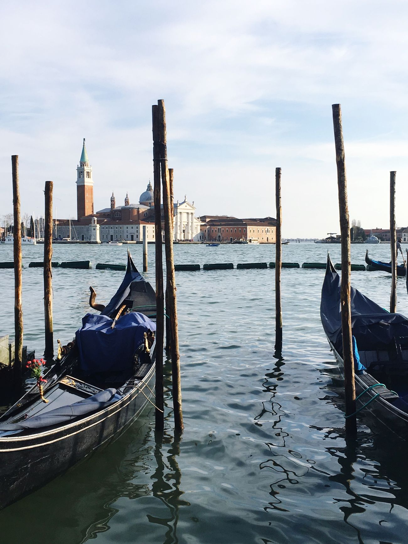 Cultures Gondola - Traditional Boat Architecture Mode Of Transport Transportation Nautical Vessel Canal Water Travel Travel Destinations Sky Wooden Post Moored Day Gondolier Gondola City Venice Venice, Italy Carnival