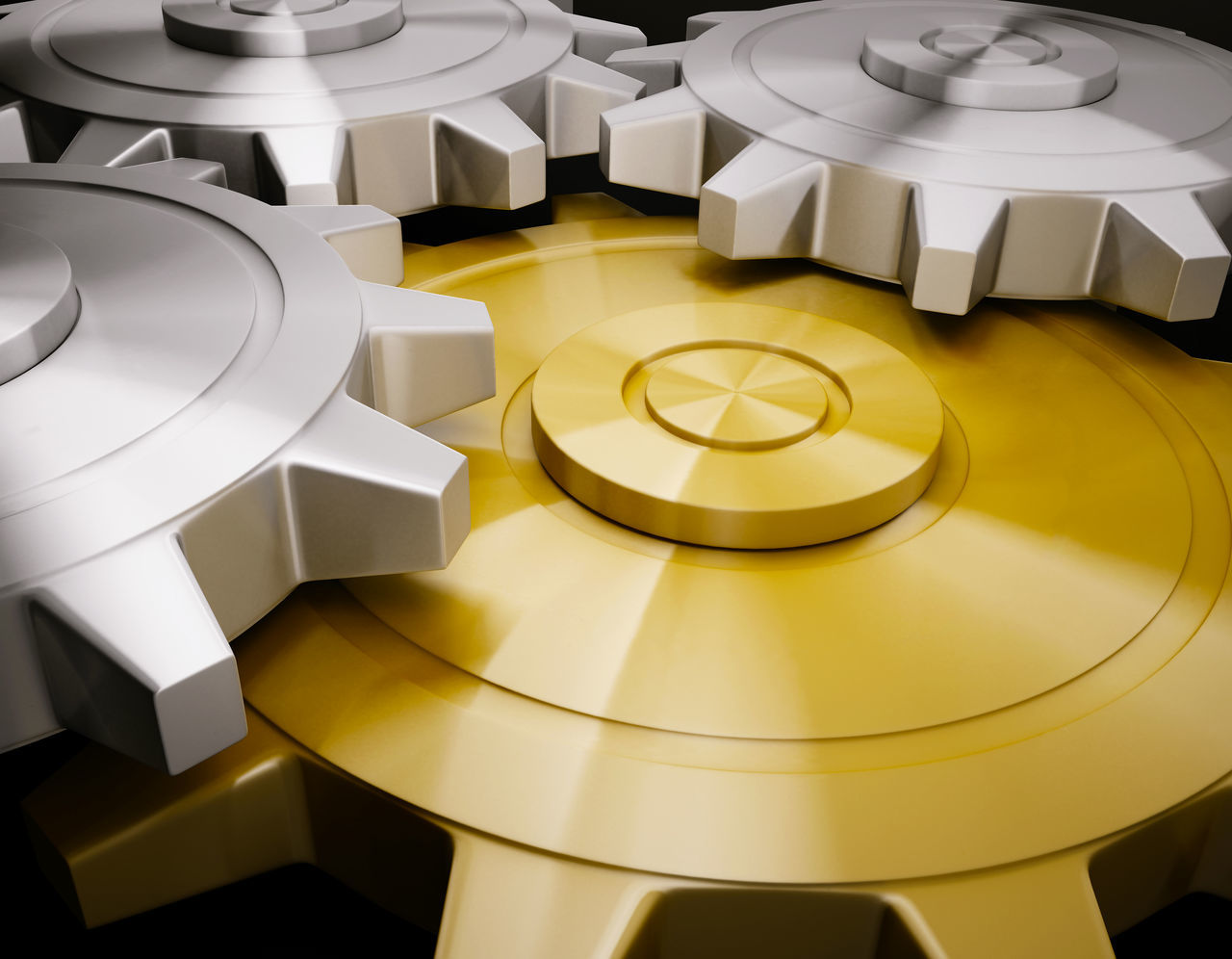 Bussiness Clockworks Concept Conceptual Futuristic Gear Gold Gold Colored Innovation Machine Part Machinery No People