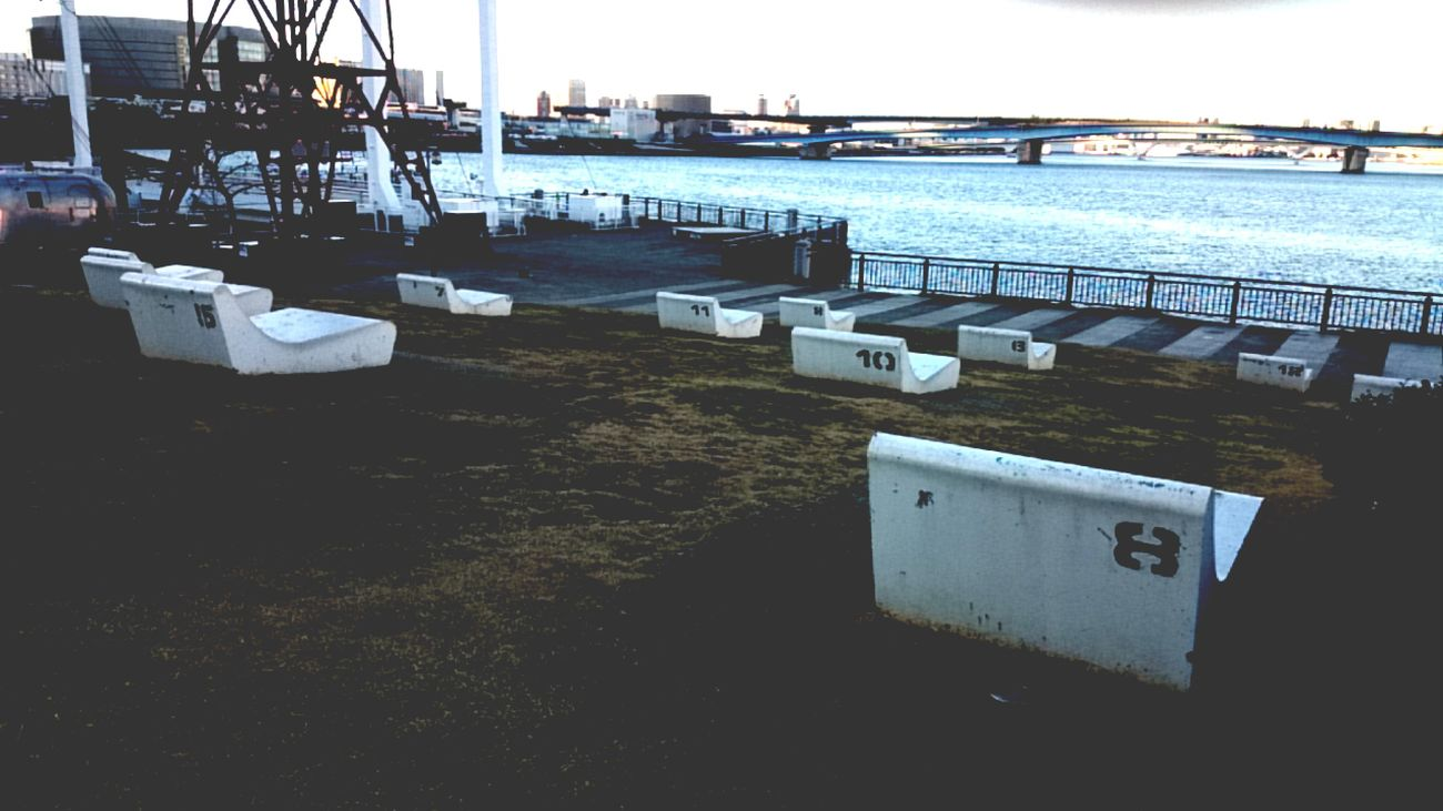 Water Outdoors No People Nature Sky Day Architecture Tokyo,Japan Toyosu Sea Side Seascape Chairs