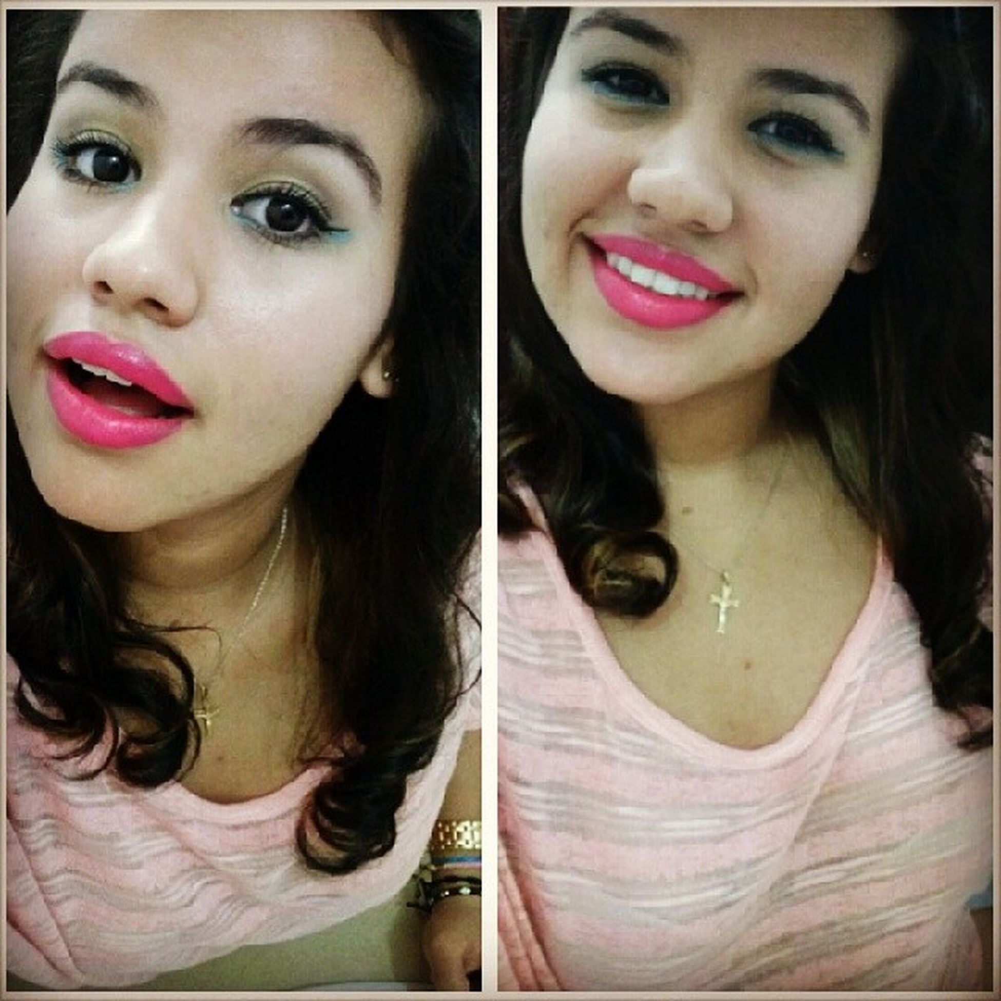 Let's have some fun,this beat is sick~ Greeneyeliner Berrypinklipstick Lipsticklover TooCute letshavesomefun photooftheday ojitoslindos donthate dontyouwishyputgirlfriendwashotlikeme soybella quemimpolta smile peach abul