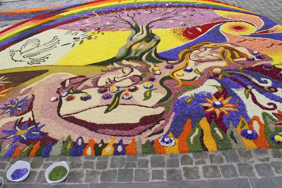 Adam And Eve Amazed Art Bestoftheday Colorful Creativity EyeEm Best Shots Flowers Flowers, Nature And Beauty Flowers_collection Hard Working Team Infiorata 2016 Multi Colored Religious Festival Spello Street Art The Street Photographer - 2016 EyeEm Awards Tourism Umbria, Italy
