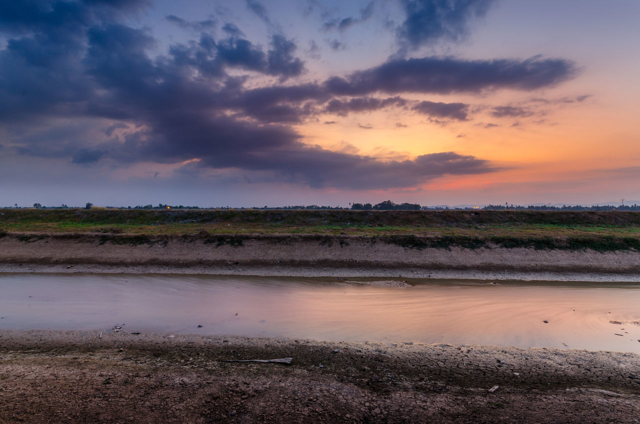Agriculture Beauty In Nature Cloud - Sky Landscape Nature No People Outdoors Rural Scene Scenics Sky Sunset Water