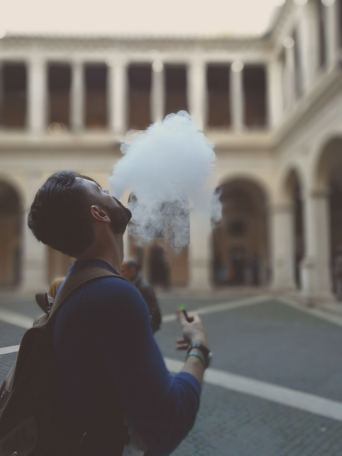 in the cloister.. One Person Adult People Young Adult Leisure Activity Real People One Man Only Day Outdoors City Smoking Smoking Cigarettes. Cloister Cloisters  Photo Photography Shoot