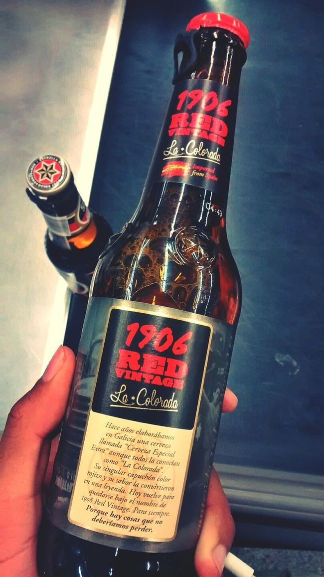 A toast with a good beer From My Point Of View Drink Red Vintage