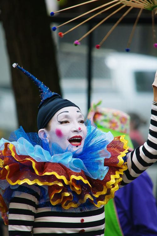 Portland Rose Parade, Summer In The City , Cultural Festival, Clown, Clown Face, Clownmakeup, Clowncostume